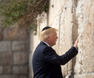 Trump in Israel–but now that Iran continues on open their politics to the west–Trump even increases Pressure