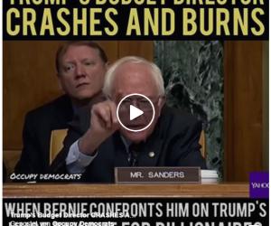 Bernie Sanders vaporizes Trump's Budget Director