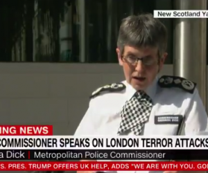 "Metropolitan Police Commissioner: ""Many people risked their own safety to help others"" during London attacks"