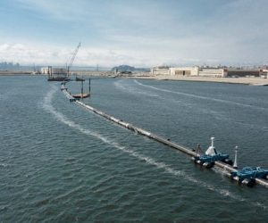 Ocean Cleanup system completed and ready to be towed out to sea